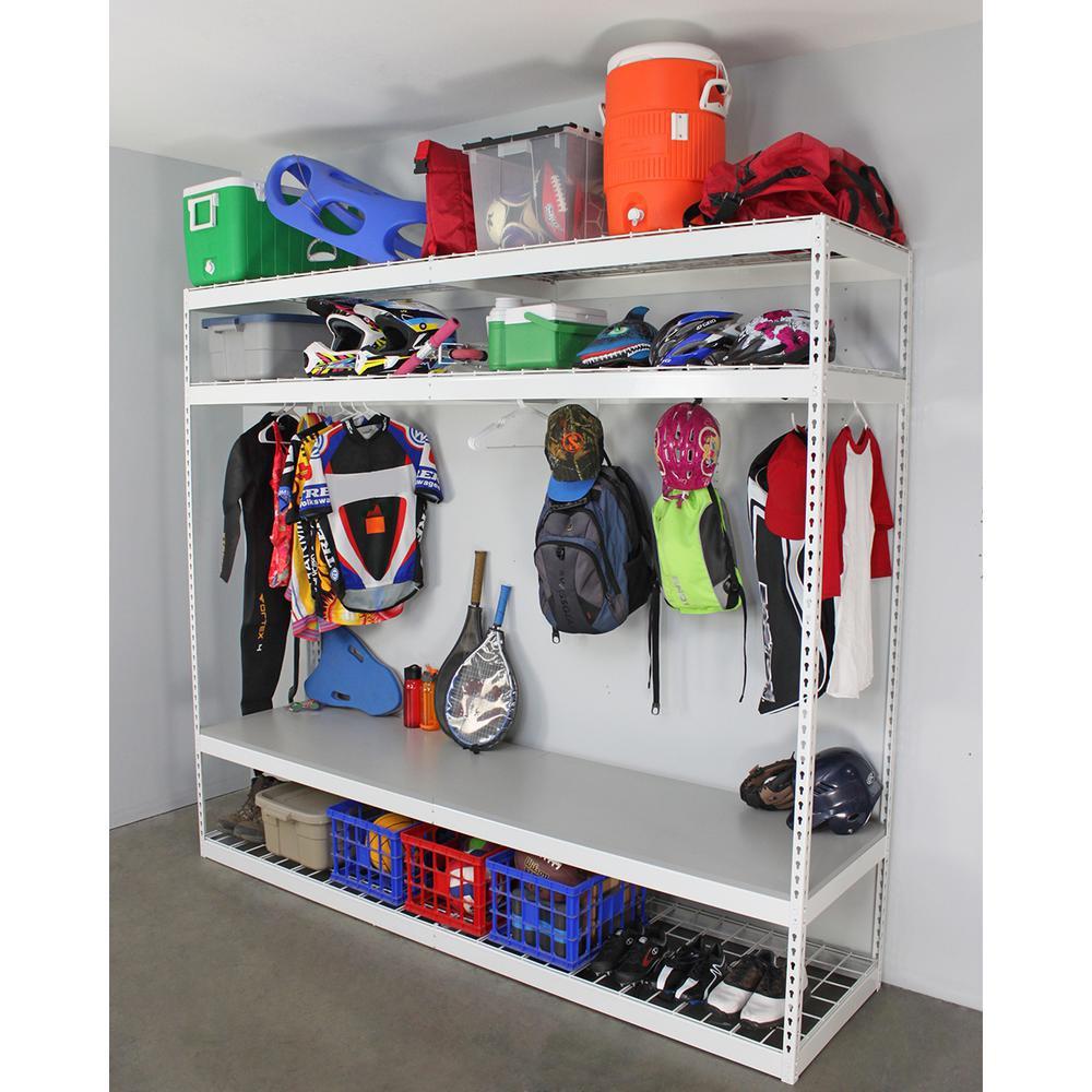 Garage Sports Organizer  SafeRacks 24 in D x 96 in H x 84 in W 4 Shelf