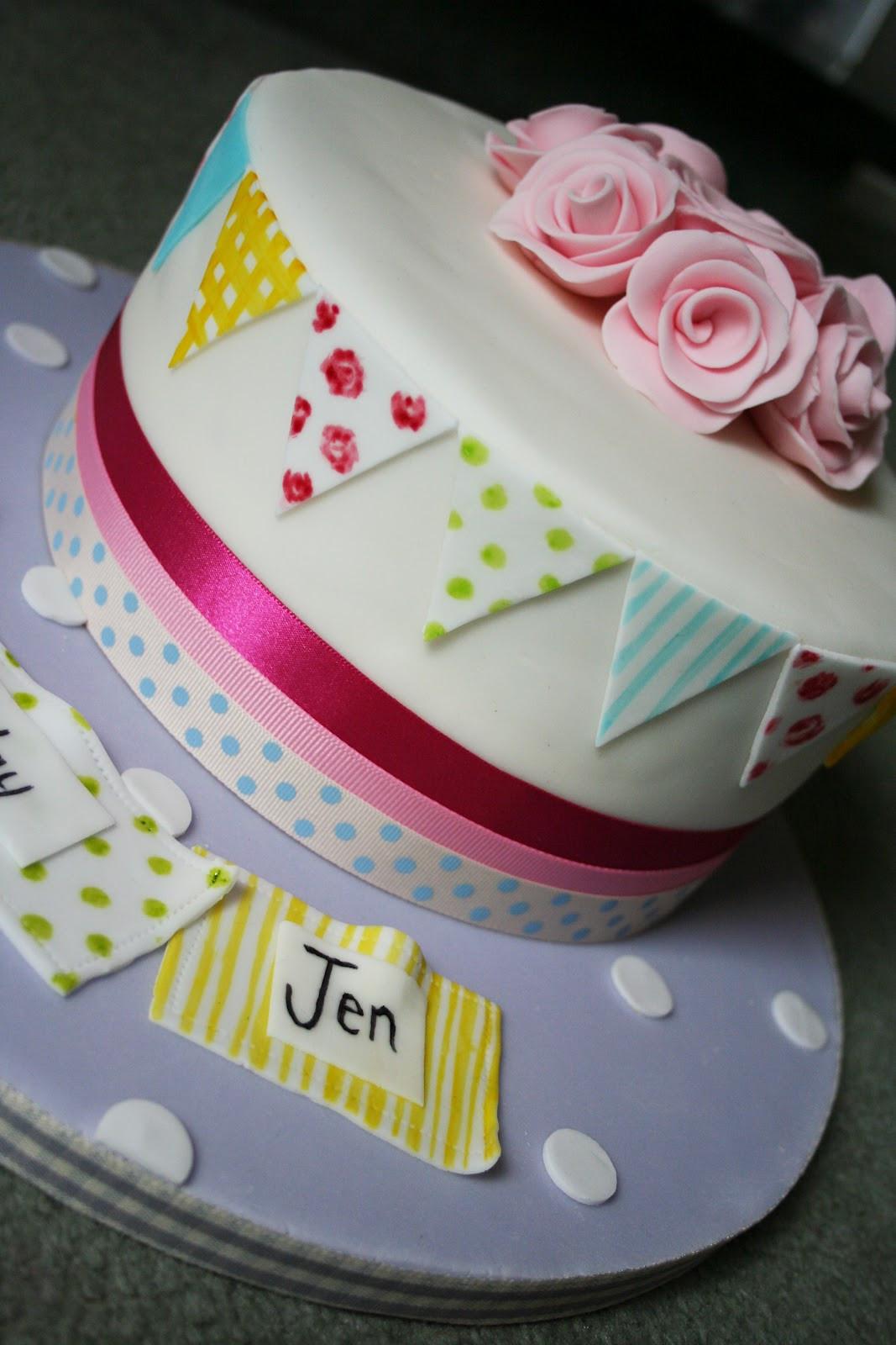 Good Birthday Cakes  Dann Good Cake Bunting Birthday Cake