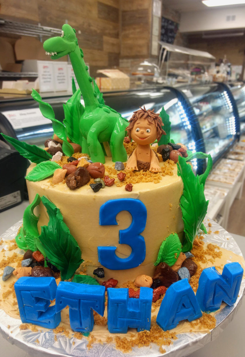 Good Birthday Cakes  The Good Dinosaur Custom Birthday Cake Goo s Bakery