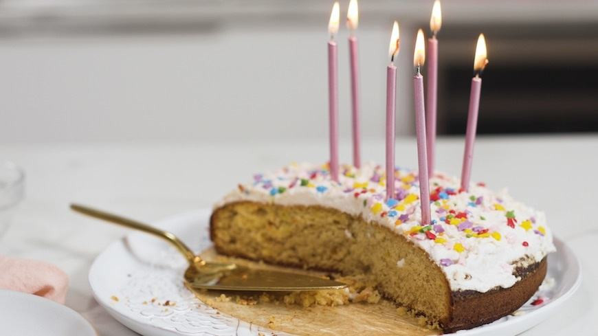 Good Birthday Cakes  This healthy birthday cake recipe is low sugar and grain