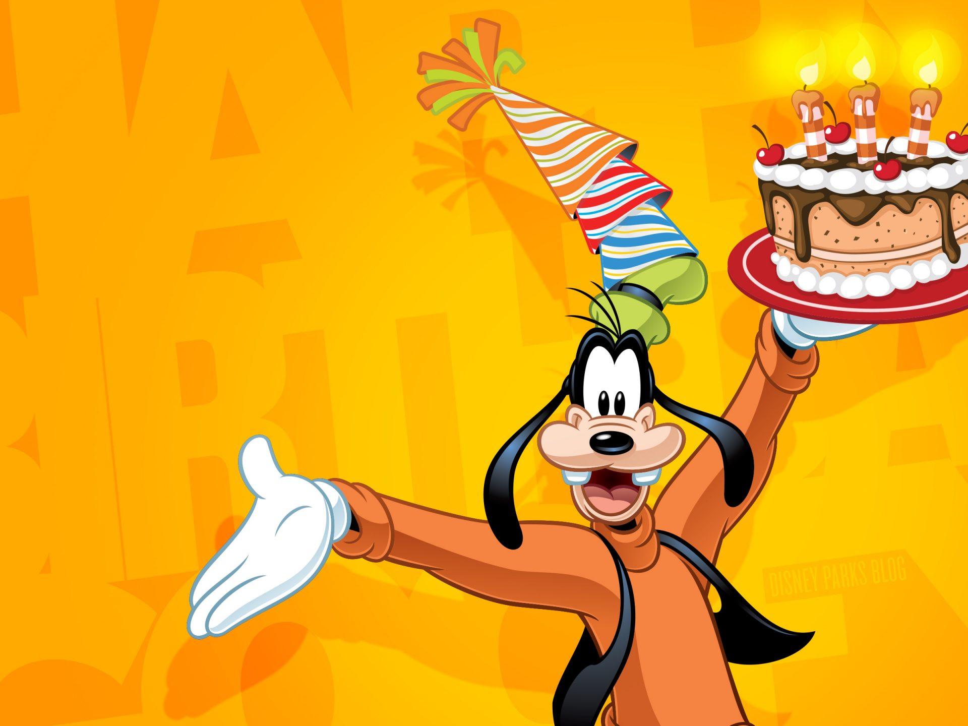 Goofy Birthday Wishes  Goofy Celebrate Happy Birthday Disney Wallpaper 2880x1800