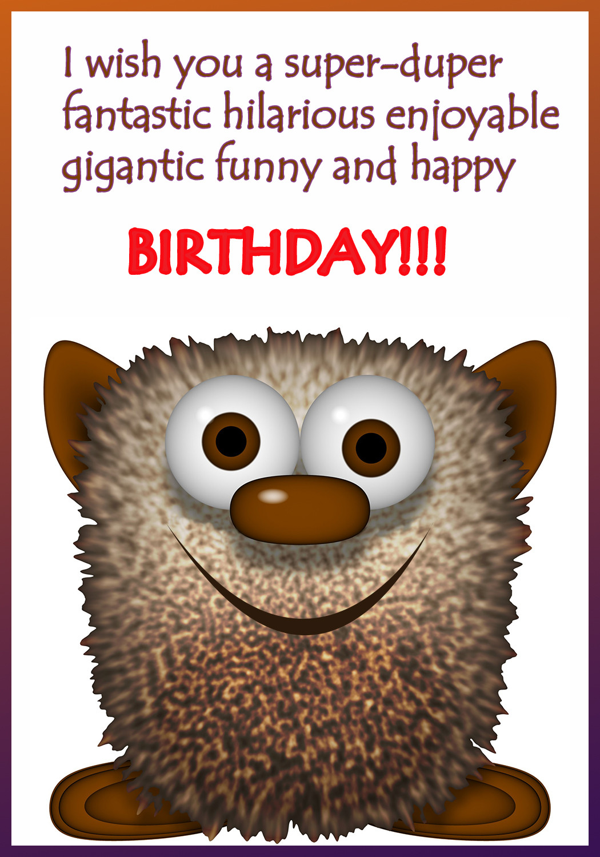 Goofy Birthday Wishes  Funny Printable Birthday Cards