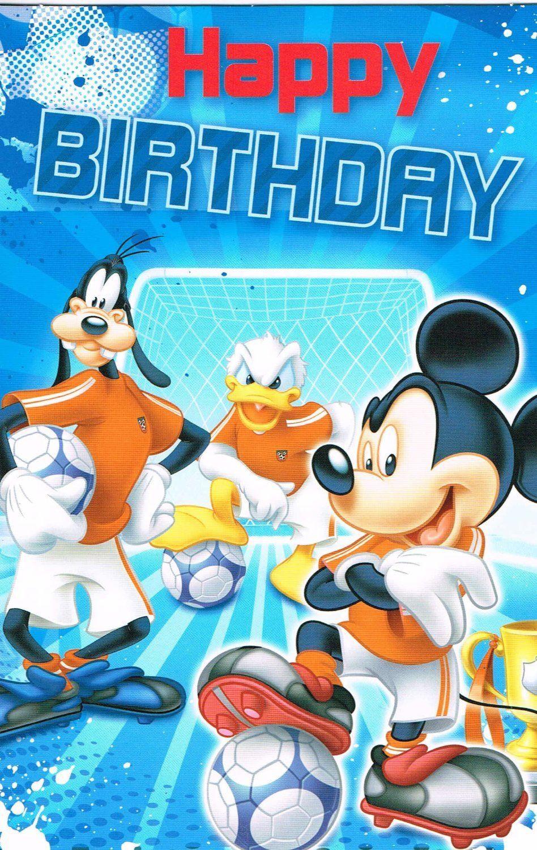 Goofy Birthday Wishes  MICKEY MOUSE GOOFY DONALD DUCK HAPPY BIRTHDAY FOOTBALL