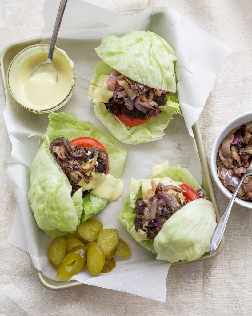 Gourmet Elk Burger Recipes  Whole30 Elk Burgers with Caramelized ions and Dijonnaise