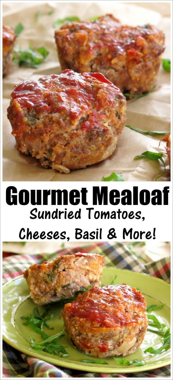 Gourmet Ground Beef Recipes  Gourmet Meatloaf with Mozzarella and Sundried Tomatoes