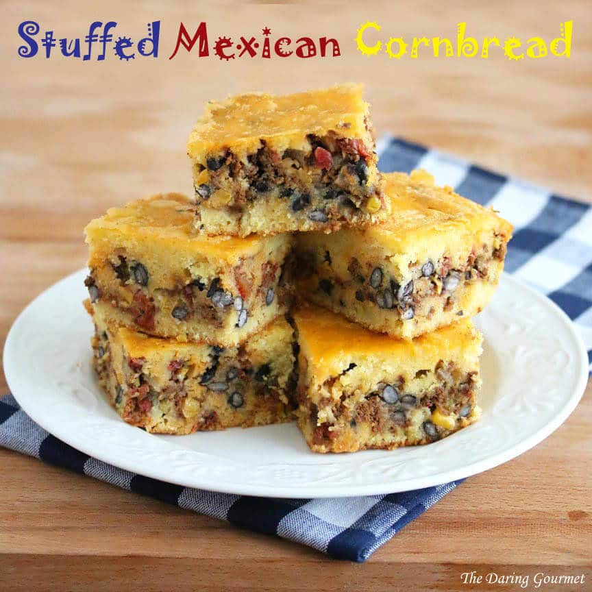 Gourmet Ground Beef Recipes  Stuffed Mexican Cornbread The Daring Gourmet