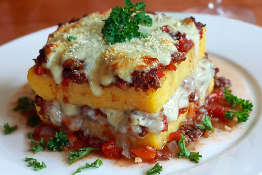 Gourmet Ground Beef Recipes  Polenta Lasagna Recipe The Daring Gourmet