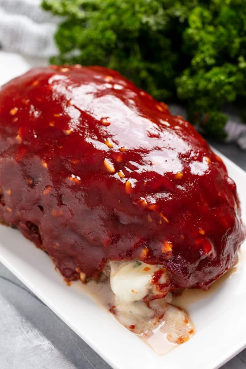 Gourmet Ground Beef Recipes  Mozzarella Stuffed Meatloaf Recipe