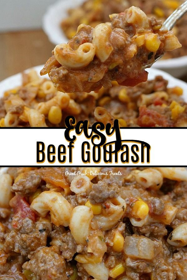 Gourmet Ground Beef Recipes  Easy Beef Goulash is a delicious ground beef and pasta