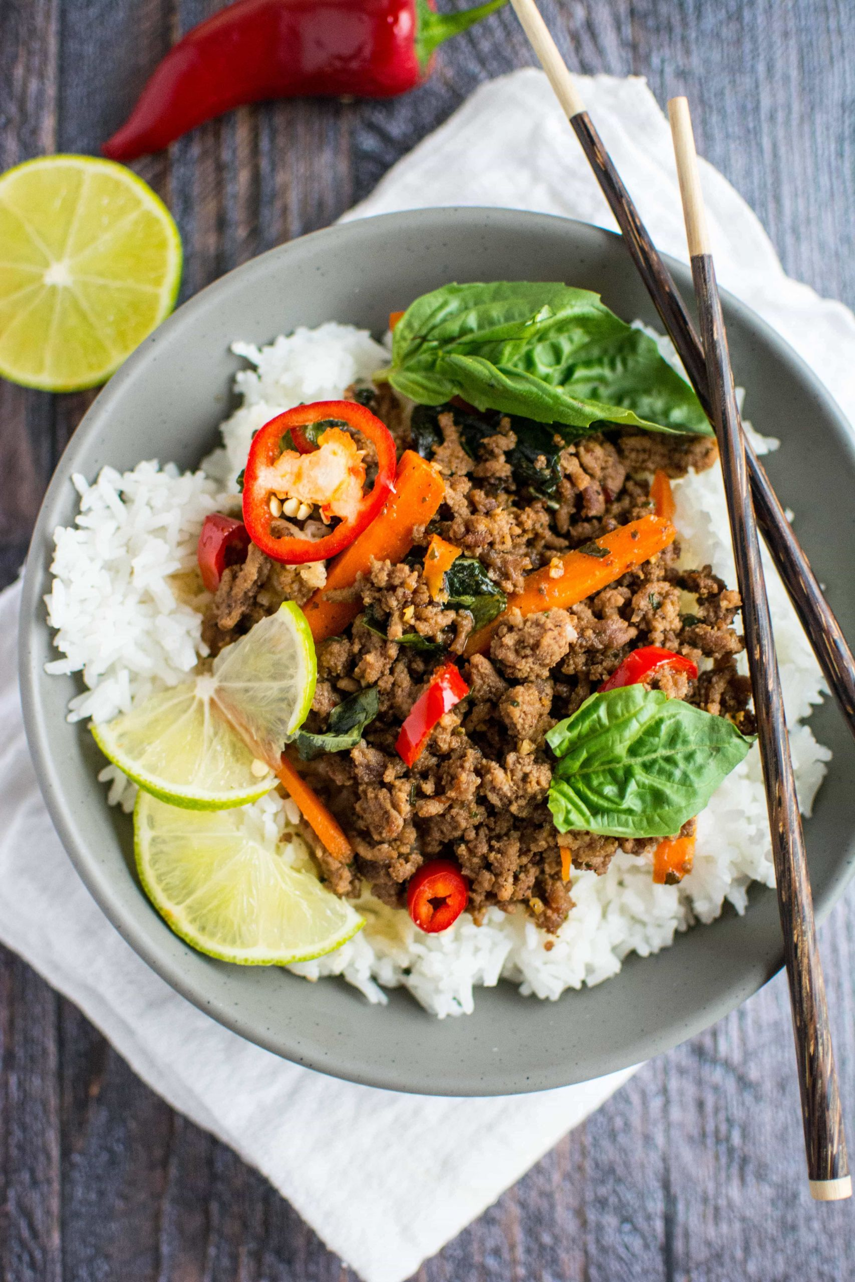 Gourmet Ground Beef Recipes  Quick Fix Meal Thai Basil Beef Slow Cooker Gourmet