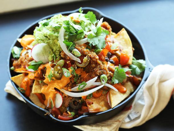 Gourmet Nachos Recipe  The Ultimate Fully Loaded Vegan Nachos Recipe