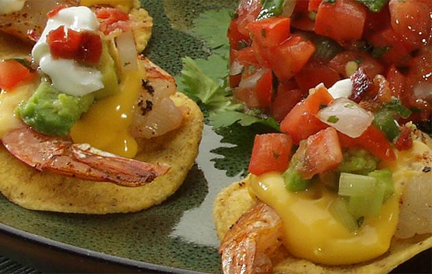 Gourmet Nachos Recipe  Ricos Shrimp Nachos