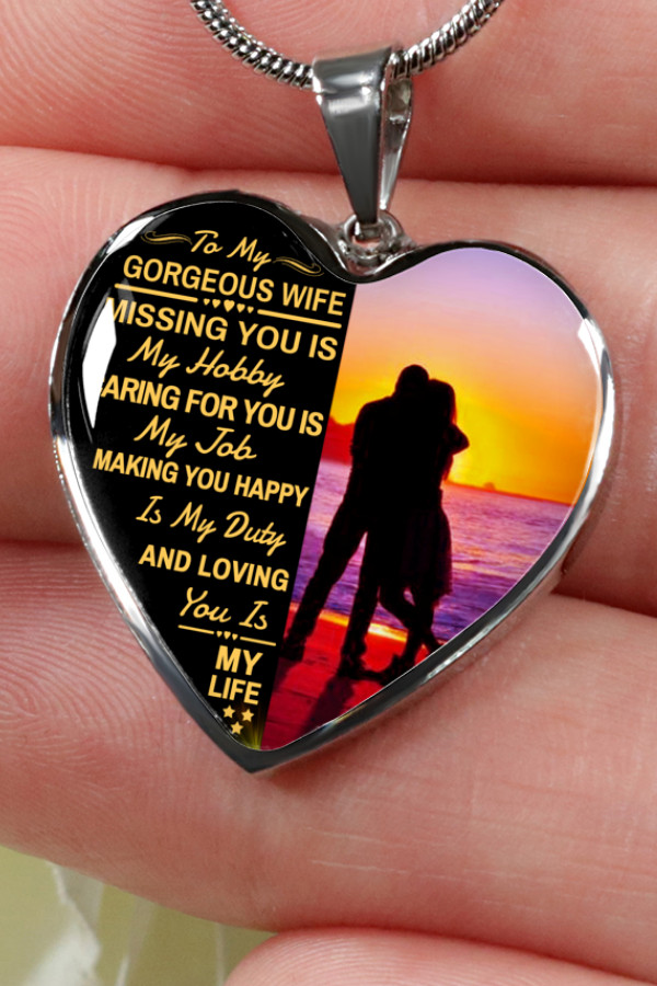 Graduation Gift Ideas For Wife  To My Gorgeous Wife Missing You Is My Husband Luxury