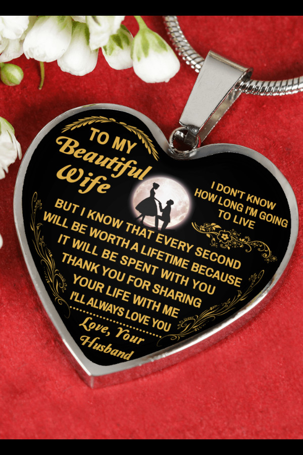 Graduation Gift Ideas For Wife  To My Beautiful Wife Luxury Silver Necklace Love Husband