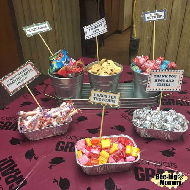 Graduation Party Candy Ideas  Graduation Candy Saying Water Bottle Gift