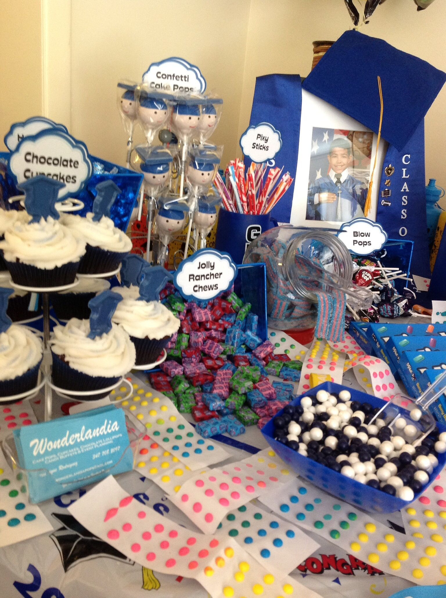 Graduation Party Candy Ideas  Graduation Candy Table With images
