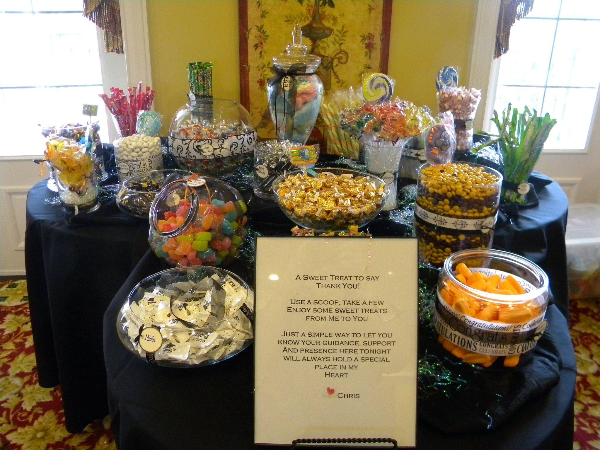 Graduation Party Candy Ideas  10 Spectacular Food Ideas For Graduation Open House 2019