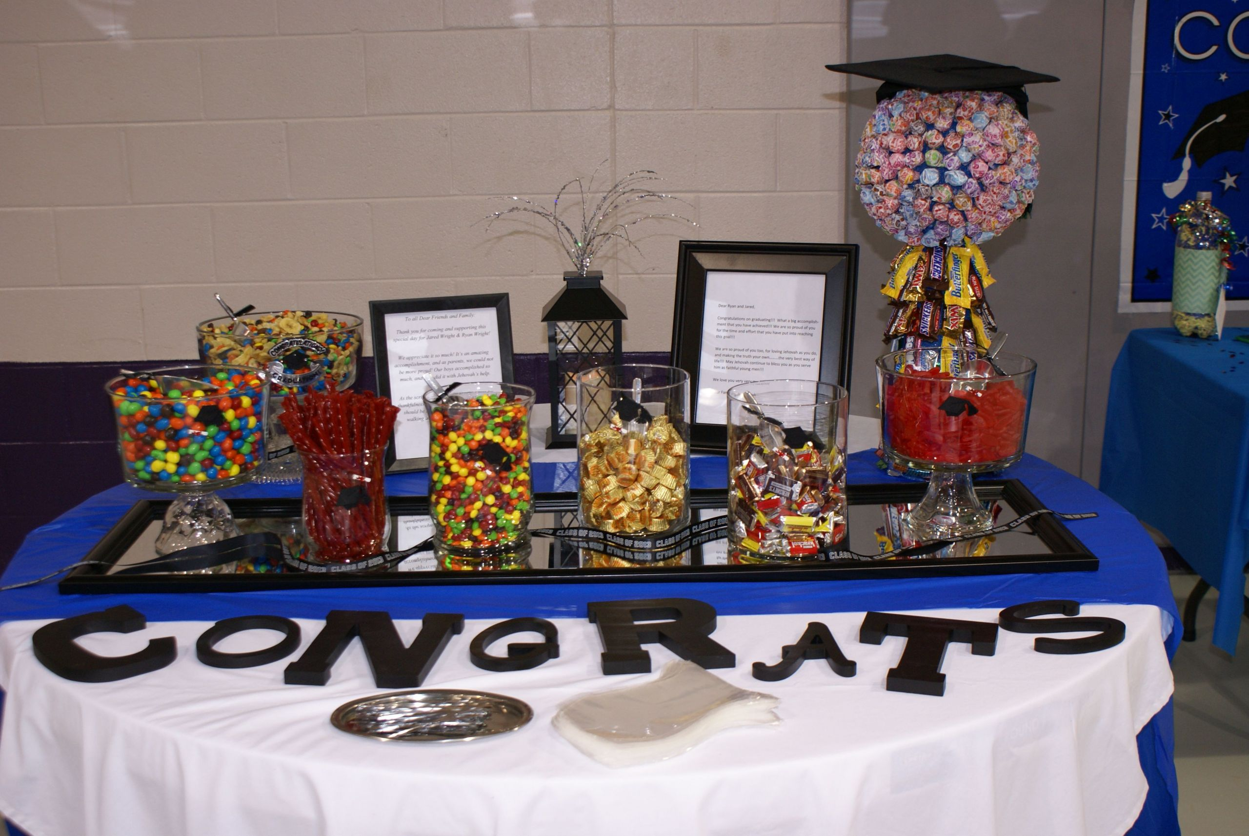"""Graduation Party Candy Ideas  Another thing I did for son s senior grad party """"candy"""