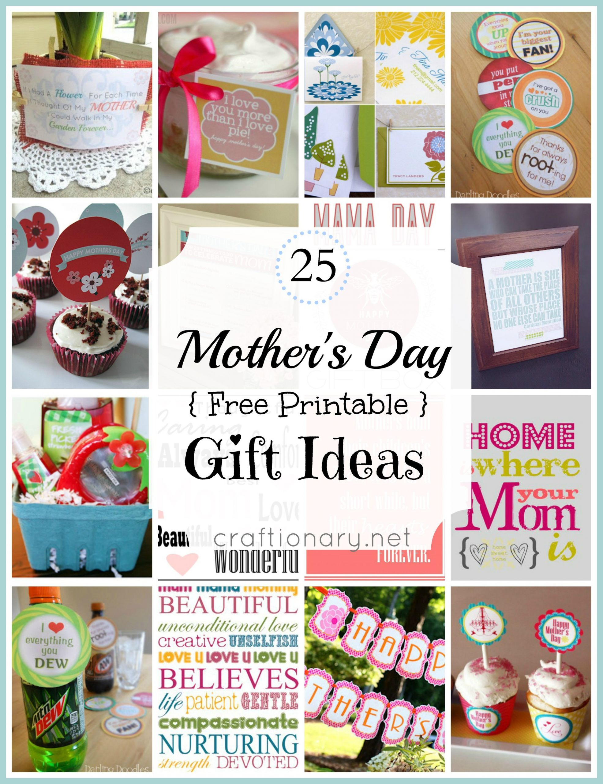 Great Mothers Day Gift Ideas  Craftionary