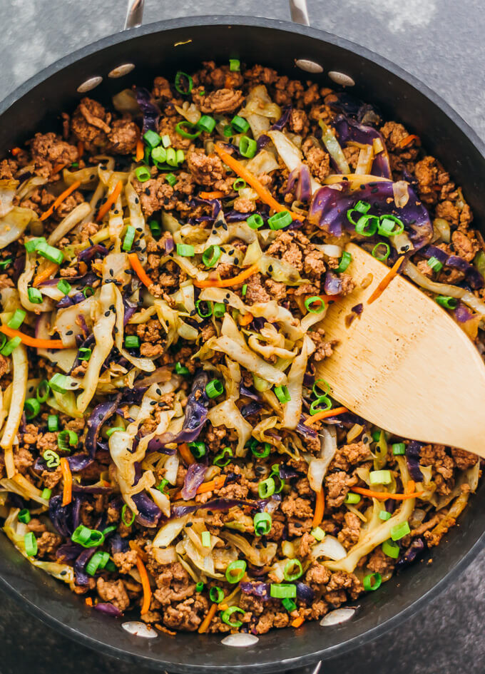 Ground Beef Stir Fry Recipes  Ground beef and cabbage stir fry savory tooth