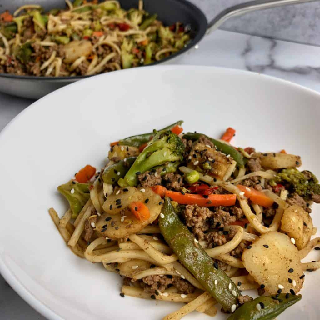Ground Beef Stir Fry Recipes  5 Spice Ground Beef Stir Fry with Noodles A 20 Minute Recipe