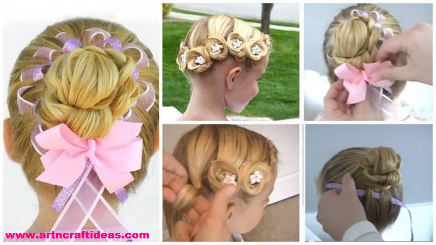 Hairstyle For Little Girl Step By Step  2 Cool Hairstyles for Little Girls on Any Occasion Step By