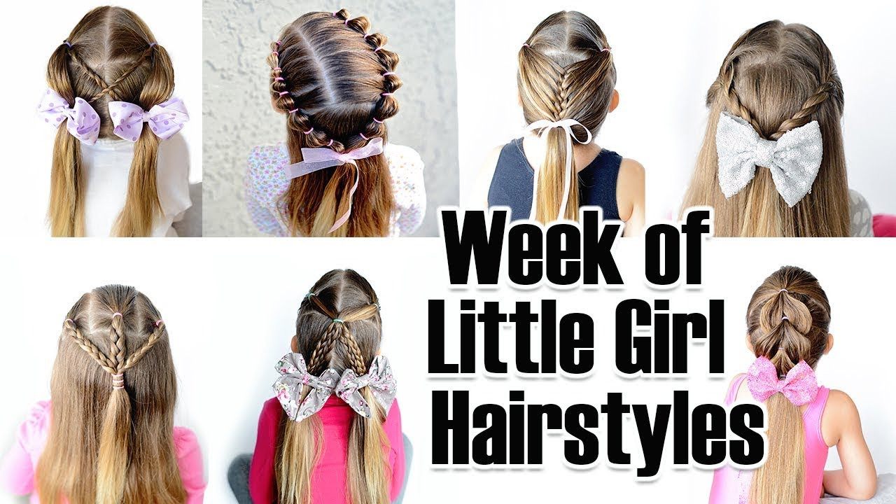 Hairstyle For Little Girl Step By Step  7 Quick and Easy Little Girl Hairstyles for the week