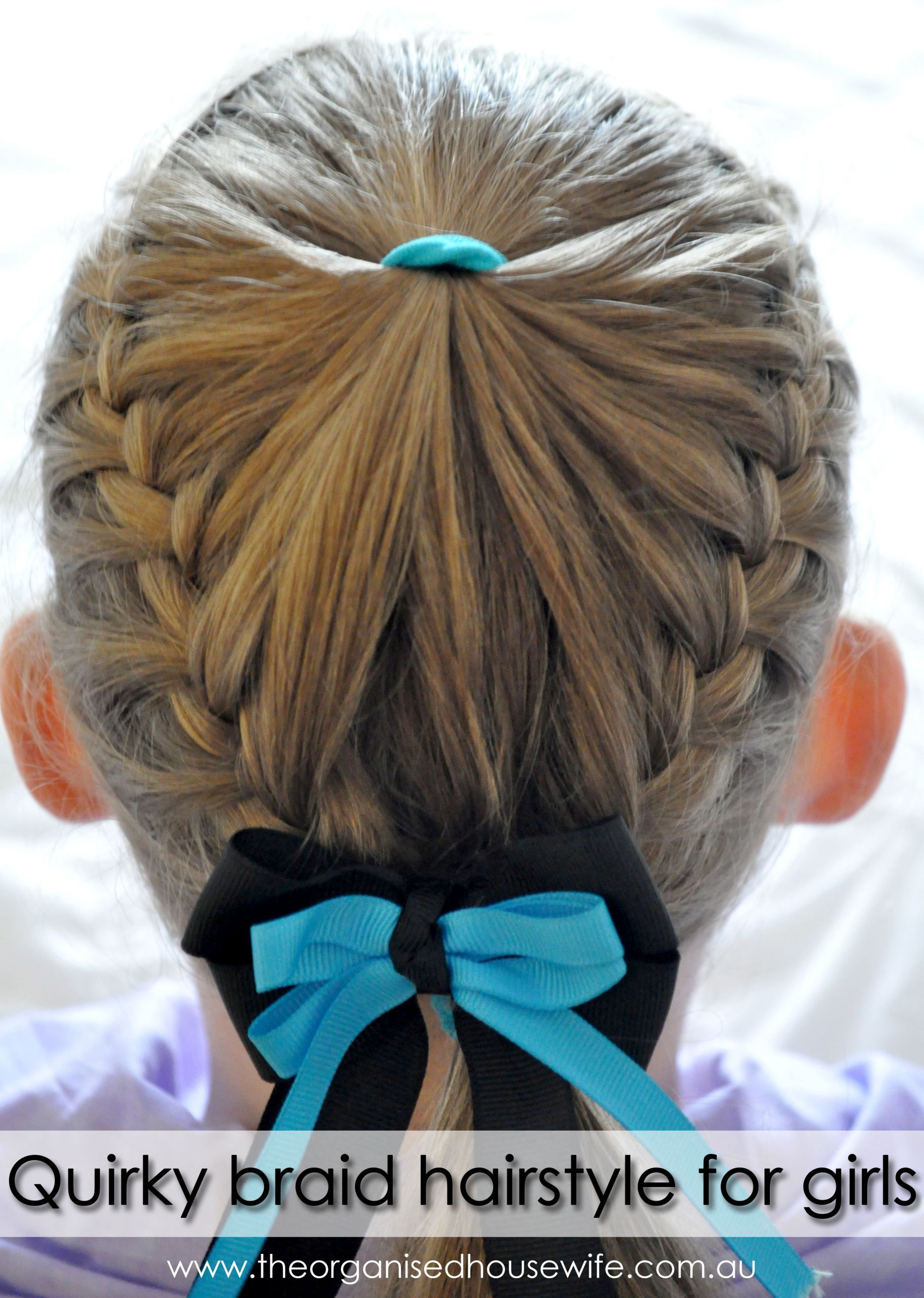 Hairstyle For Little Girl Step By Step  Quirky braid hairstyle for girls step by step