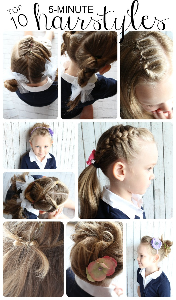 Hairstyle For Little Girl Step By Step  10 Easy Hairstyles for Girls Somewhat Simple