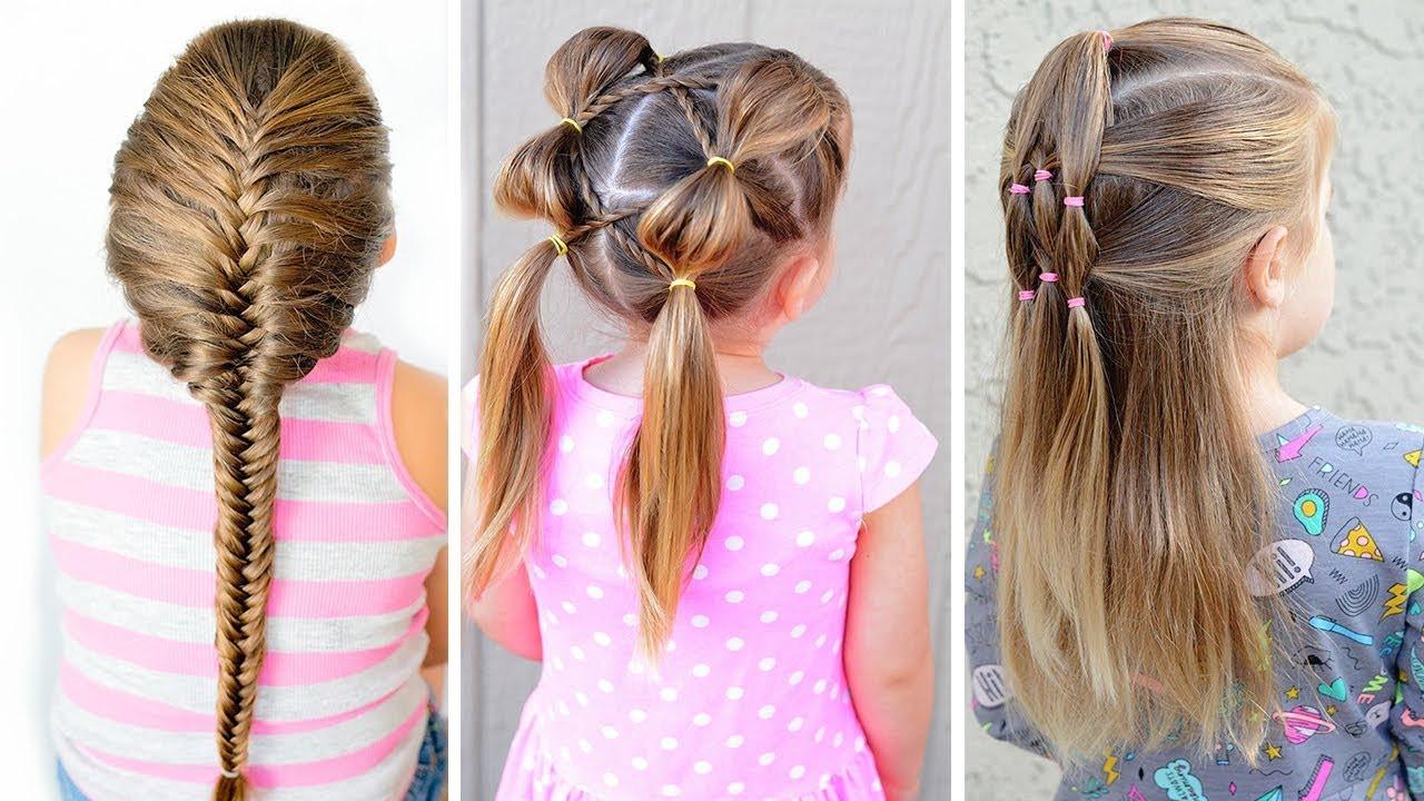 Hairstyles For Little Girl  4 EASY HAIRSTYLES FOR LITTLE GIRLS⭐ EASY TODDLER