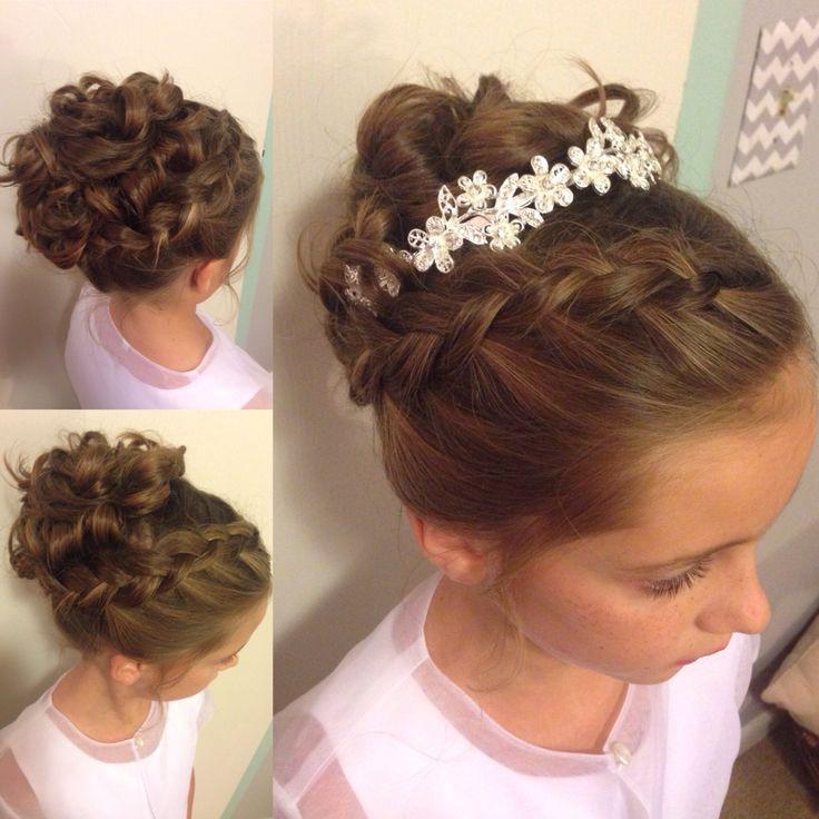 Hairstyles For Little Girls For Weddings  Little girl updo Wedding hairstyle Instagram
