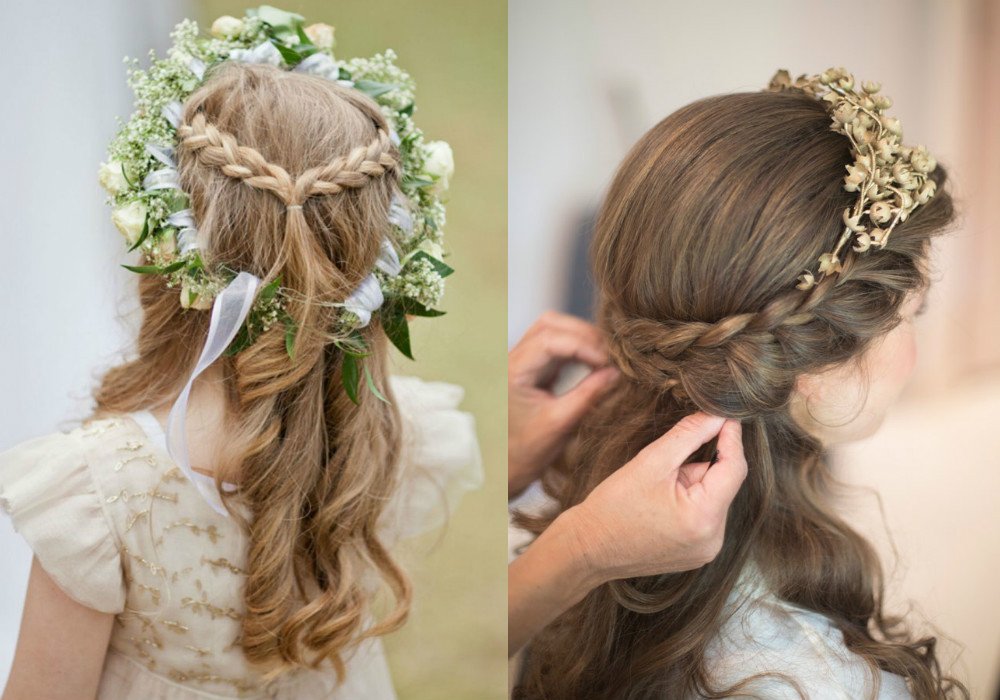 Hairstyles For Little Girls For Weddings  Wedding hairstyles for little girls 6 cute flower girl