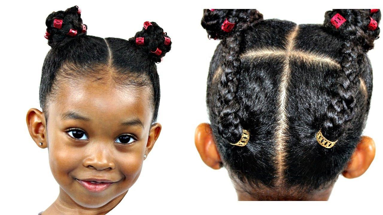 Hairstyles For Natural Little Girl  Hair Tutorial For Little Girls