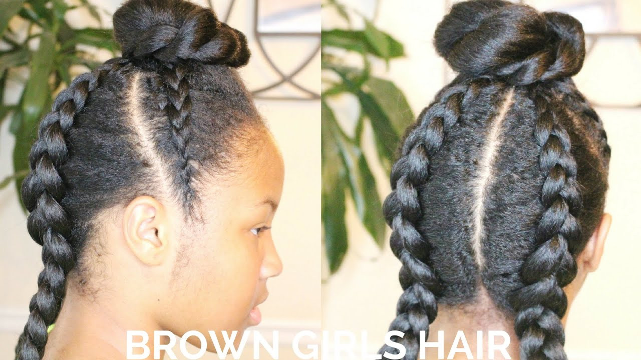 Hairstyles For Natural Little Girl  Little Black Girls Cornrows Hairstyle