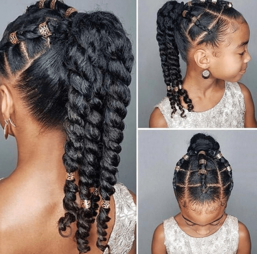 Hairstyles For Natural Little Girl  43 Braid Hairstyles For Little Girls With Natural Hair