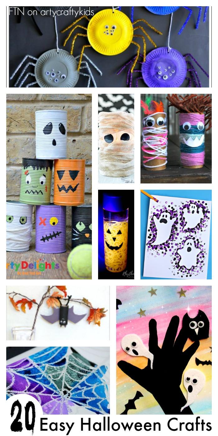 Halloween Craft Ideas Kids  20 Easy Halloween Crafts