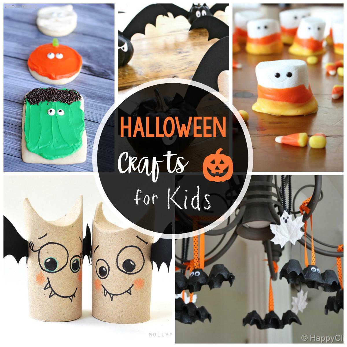 Halloween Craft Ideas Kids  25 Cute & Easy Halloween Crafts for Kids Crazy Little