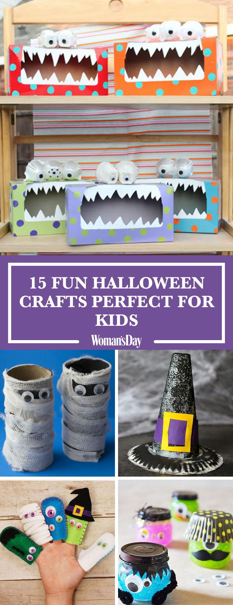 Halloween Craft Ideas Kids  20 Easy Halloween Crafts for Kids Fun Halloween Craft