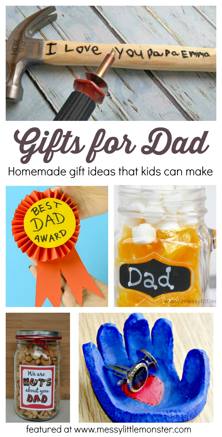 Handmade Gifts From Toddlers  Gifts For Dad From Kids Homemade Gift Ideas That Kids