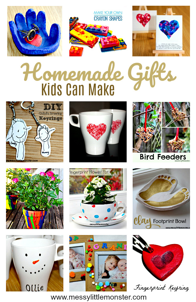 Handmade Gifts From Toddlers  Handmade Gifts Kids Can Make Messy Little Monster