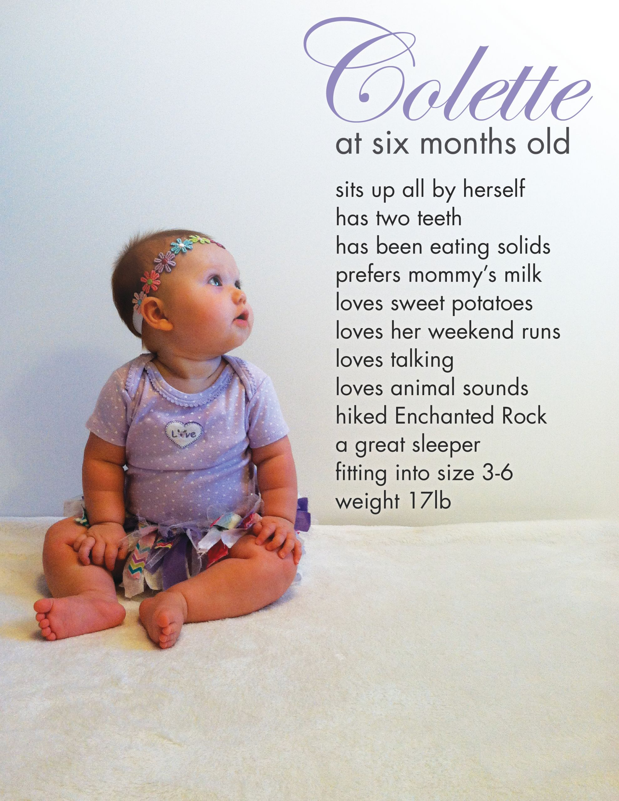 Happy 6 Months Baby Quotes  baby girl