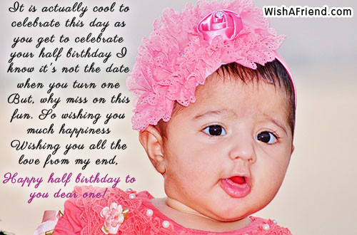 Happy 6 Months Baby Quotes  Six Months Birthday Wishes