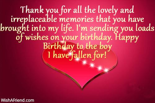 Happy Birthday Wishes For Boyfriend  Happy Birthday To My Boyfriend Quotes QuotesGram