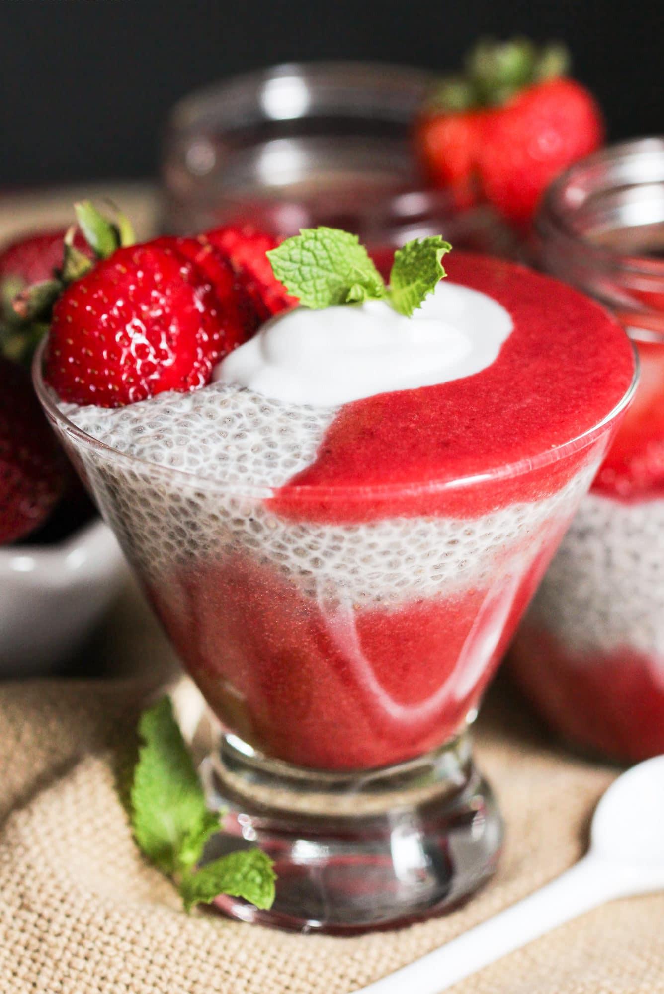 Healthy Low Fat Desserts  Easy Strawberry Vanilla Chia Seed Pudding Recipe