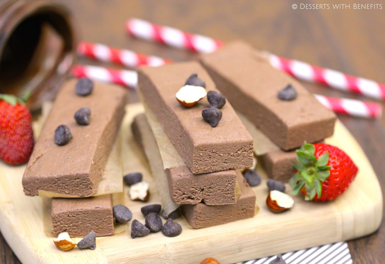 Healthy Low Fat Desserts  Healthy Nutella Fudge Protein Bars Desserts with Benefits