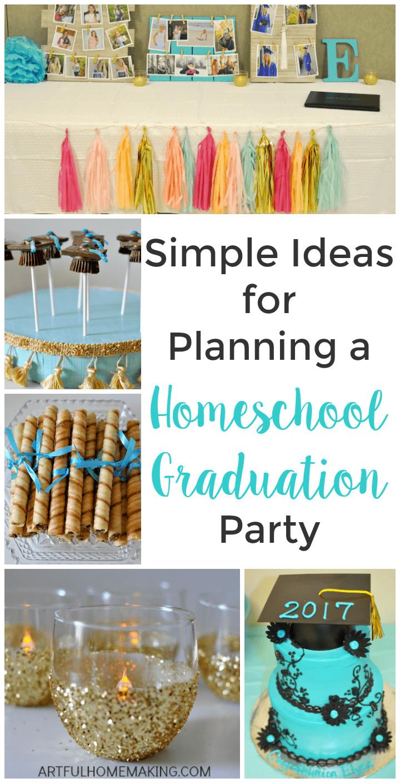 High School Graduation Party Ideas  Homeschool Graduation Party Ideas Artful Homemaking