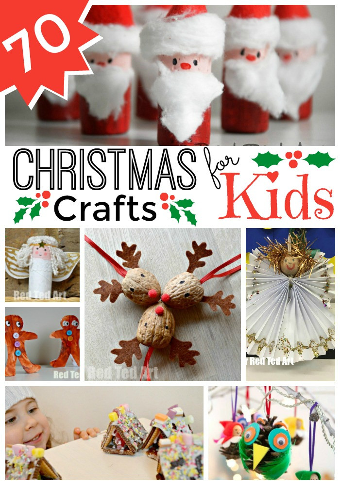 Holiday Projects For Kids  Easy Christmas Crafts for Kids Red Ted Art