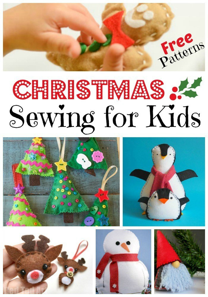 Holiday Projects For Kids  Christmas Sewing Projects for Kids with FREE Patterns