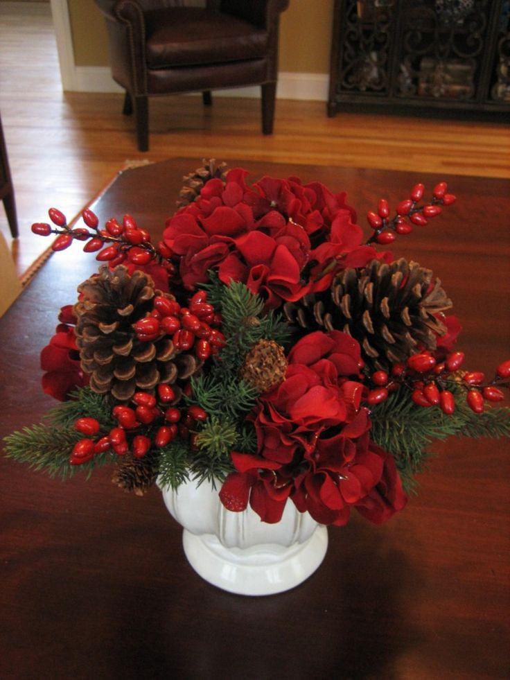 Homemade Christmas Flower Arrangements  The 25 best Christmas floral arrangements ideas on