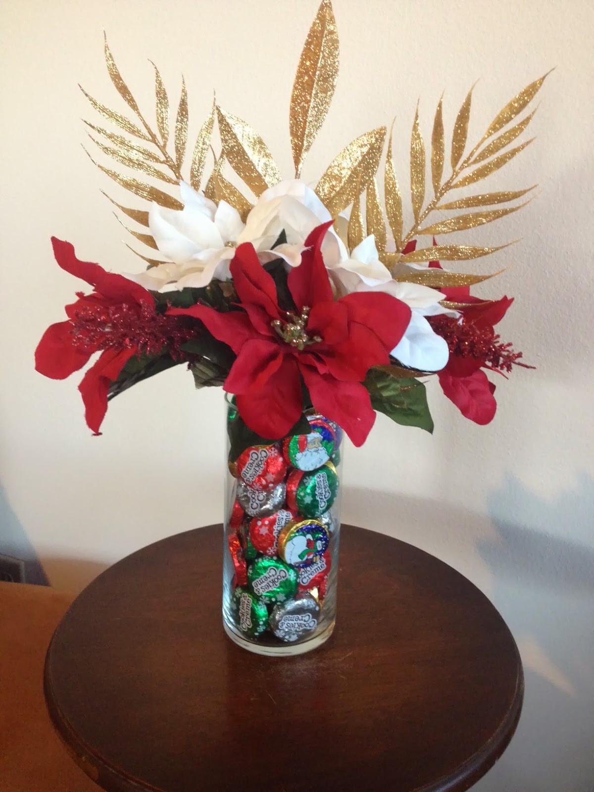 Homemade Christmas Flower Arrangements  Aim To Create DIY Christmas Candy Floral Arrangement